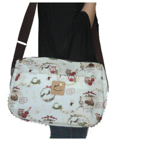 Image of Uma Hana Music Bag Uma Hana Music Themed Water Resistant Large Shoulder Bag