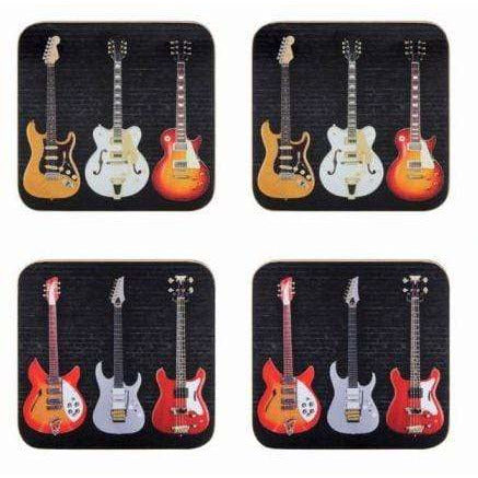 Music Bumblebees Music Coasters Electric Guitars Coasters Set of 4