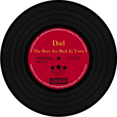 Image of Music Bumblebees Music Coasters Music Themed Record Coasters - All Time Favourite Dad (Set of 8)