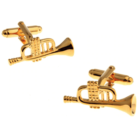 Music Bumblebees Music Design Cuff Links Various - Musical Note, Guitar, Drum, Saxophone, Trumpet and Piano