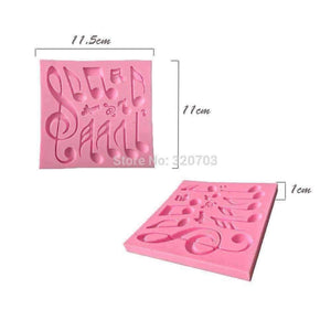 Music Themed Fondant Icing Decoration Mold with Music Notes