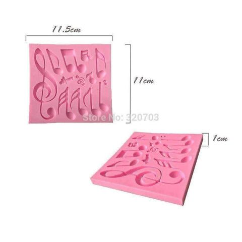 Music Themed Fondant Icing Decoration Mold with Music Notes Music Gifts,For Teachers - Music Bumblebees