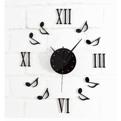 vendor-unknown Music Gifts,For Teachers Music Themed Stick-on Wall Clock