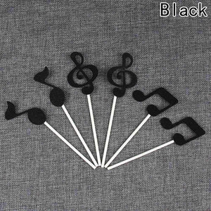 Music Notes Sticks for Cakes Cupcake Decorations - pack of 6