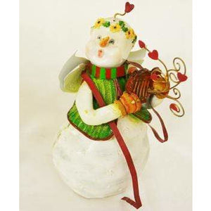 Music Bumblebees Music Gifts Snow Angel Playing Harp Figurine