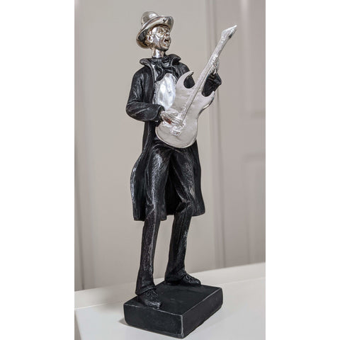 Image of Music Bumblebees Music Gifts Stylish Electric Guitar Player Figurine