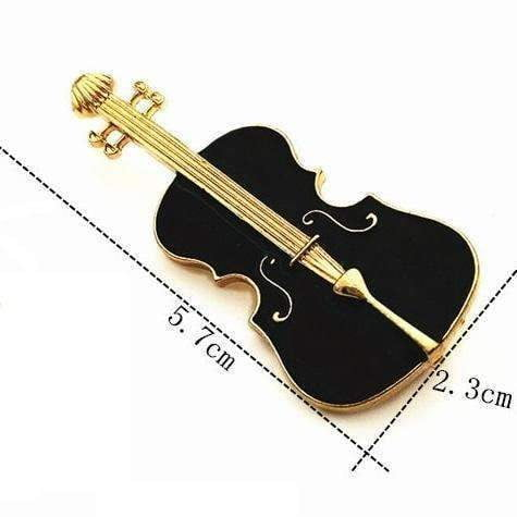 Image of Music Bumblebees Music Jewellery Black Cello Brooch / Pin - Music Gift