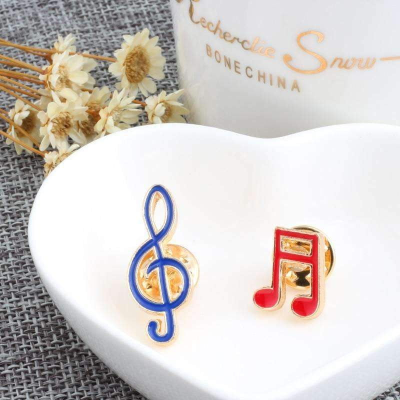 Music Notes Brooch / Pin Set - Set of 2 - Music Gift Music Jewellery - Music Bumblebees