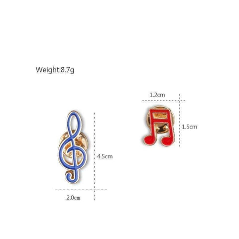 Image of Music Bumblebees Music Jewellery Music Notes Brooch / Pin Set - Set of 2 - Music Gift