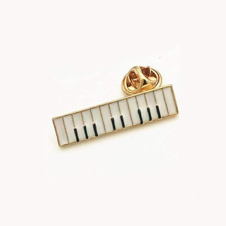 Music Bumblebees Music Jewellery Piano Keyboard Brooch / Pin - Music Gift