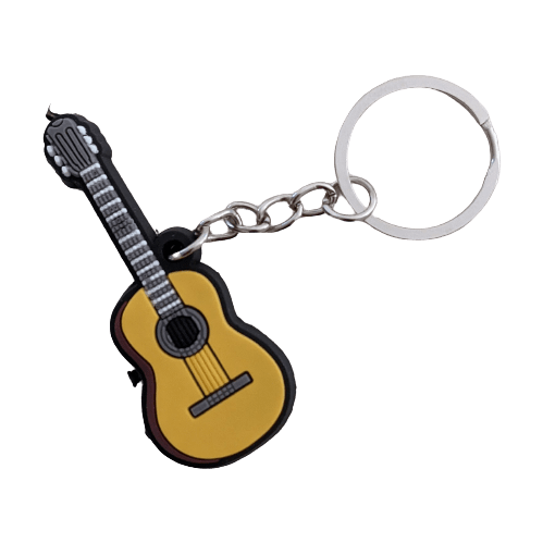 Music Bumblebees Music Keyrings Classical Guitar Music Instrument Keyring - Assorted Instruments