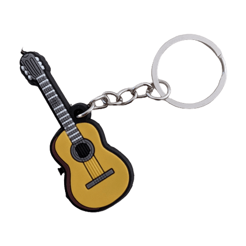 Image of Music Bumblebees Music Keyrings Classical Guitar Music Instrument Keyring - Assorted Instruments