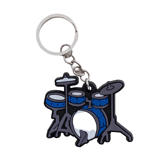 Music Bumblebees Music Keyrings Drum Music Instrument Keyring - Assorted Instruments