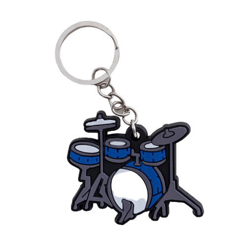 Image of Music Bumblebees Music Keyrings Drum Music Instrument Keyring - Assorted Instruments