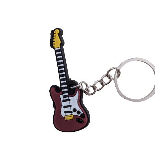 Music Bumblebees Music Keyrings Electric Guitar Music Instrument Keyring - Assorted Instruments