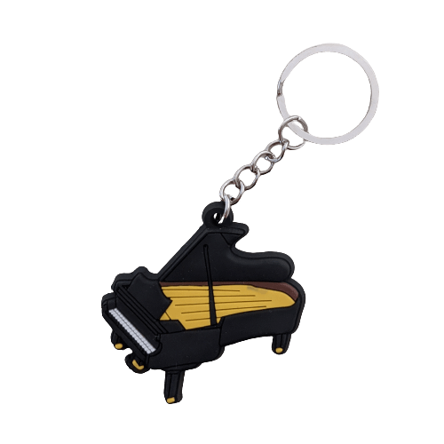Music Bumblebees Music Keyrings Grand Piano Music Instrument Keyring - Assorted Instruments