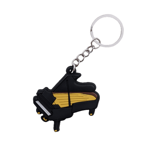 Image of Music Bumblebees Music Keyrings Grand Piano Music Instrument Keyring - Assorted Instruments