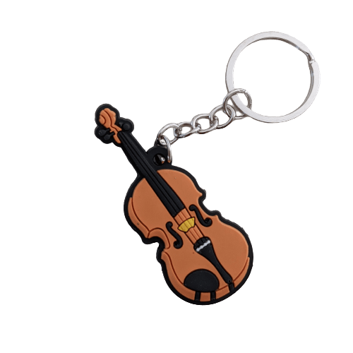Music Bumblebees Music Keyrings Violin Music Instrument Keyring - Assorted Instruments