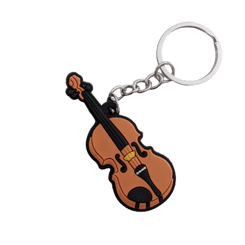 Image of Music Bumblebees Music Keyrings Violin Music Instrument Keyring - Assorted Instruments