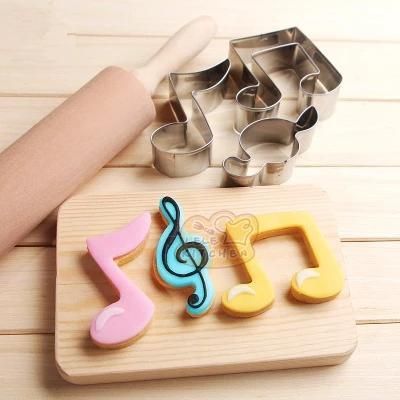 Music Bumblebees Music Kitchen Music Themed Metal Cookie Cutters - Set of 3, Beamed Quaver, G Clef and Quaver