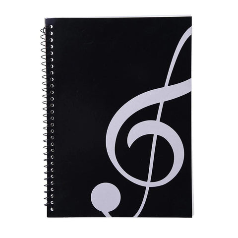 Music Bumblebees Music Notebook G Clef Large 50-Sheet Music Themed Spiral Bound Notebook