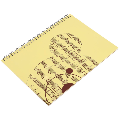Music Bumblebees Music Notebook Large 50-Sheet Music Themed Spiral Bound Notebook