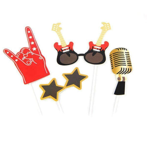 Music Themed Party Photo Booth Props - Rock n Roll