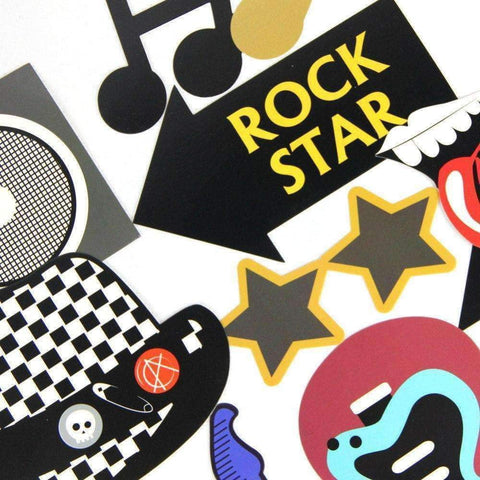 Music Themed Party Photo Booth Props - Rock n Roll Music Party Needs - Music Bumblebees