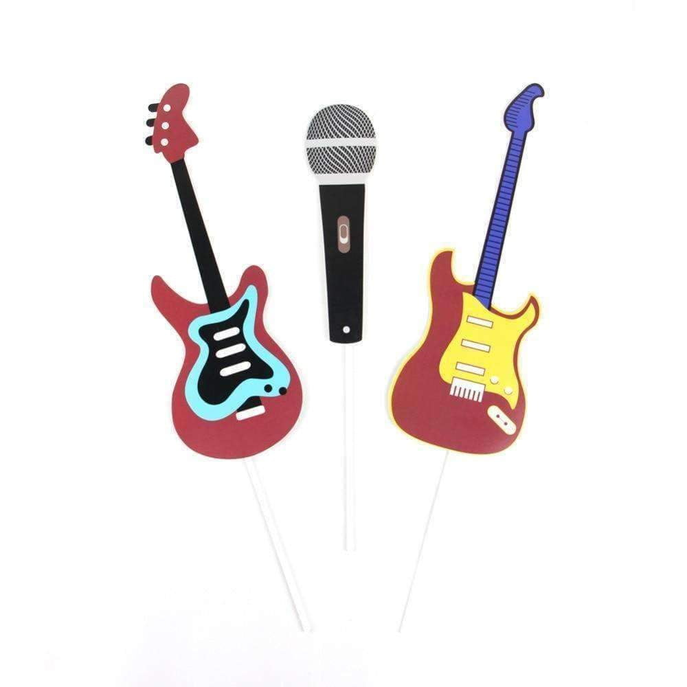 Music Bumblebees Music Party Needs Music Themed Party Photo Booth Props - Rock n Roll