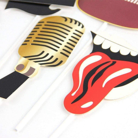 Image of Music Bumblebees Music Party Needs Music Themed Party Photo Booth Props - Rock n Roll