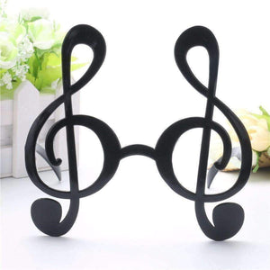 Musical Note Costume Party Glasses Black Music Party Needs - Music Bumblebees
