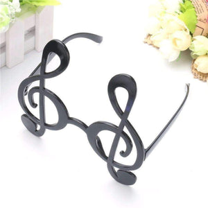 Musical Note Costume Party Glasses Black