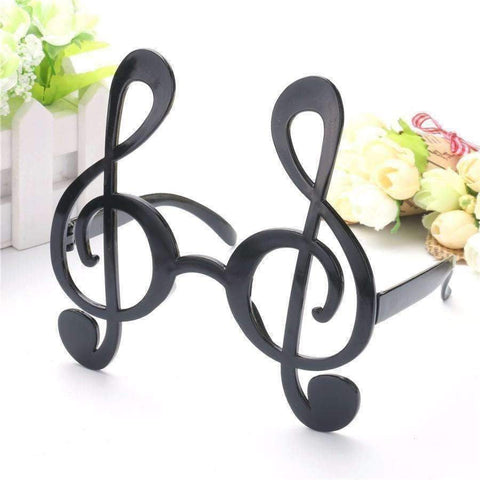 Music Bumblebees Music Party Needs Musical Note Costume Party Glasses Black