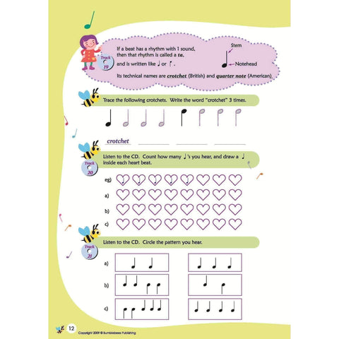 Music Bumblebees Music Publications,Featured Products,Products,Our Publications Music Bumblebees Aural & Theory Workbook A Studio Licence (Digital Download)