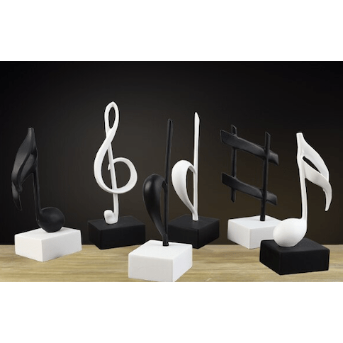 Music Bumblebees Music Sculpture Semi Quaver Black Sculpture 17cm