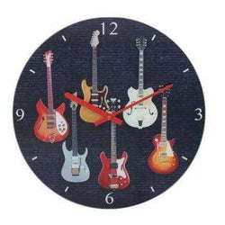 Music Bumblebees Music Snack Tray Electric Guitars Clock 30cm