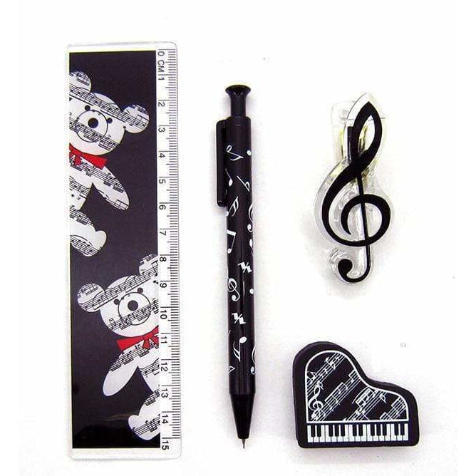 Music Bumblebees Music Stationery, Music Pencil, Music Gift, Music Gift Pack, Music Stationery Pack Music Themed Stationery Pacer Set - Pack of 4