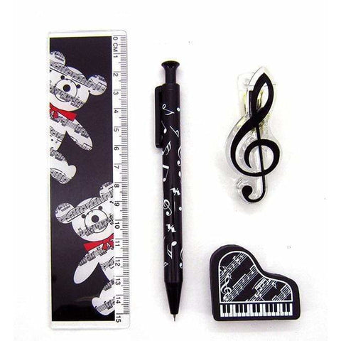 Image of Music Bumblebees Music Stationery, Music Pencil, Music Gift, Music Gift Pack, Music Stationery Pack Music Themed Stationery Pacer Set - Pack of 4