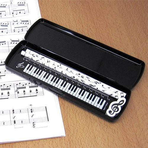 Music Themed Stationery Pencil Case Set - Pack of 5