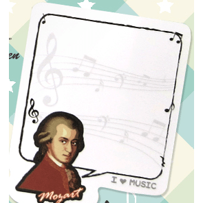 Music Bumblebees Music Stationery Music Post-it Pad (30 Sheets) - Composers