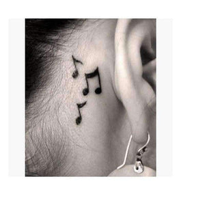 Music Bumblebees Music Stickers Music Notes Waterproof Temporary Tattoo Stickers