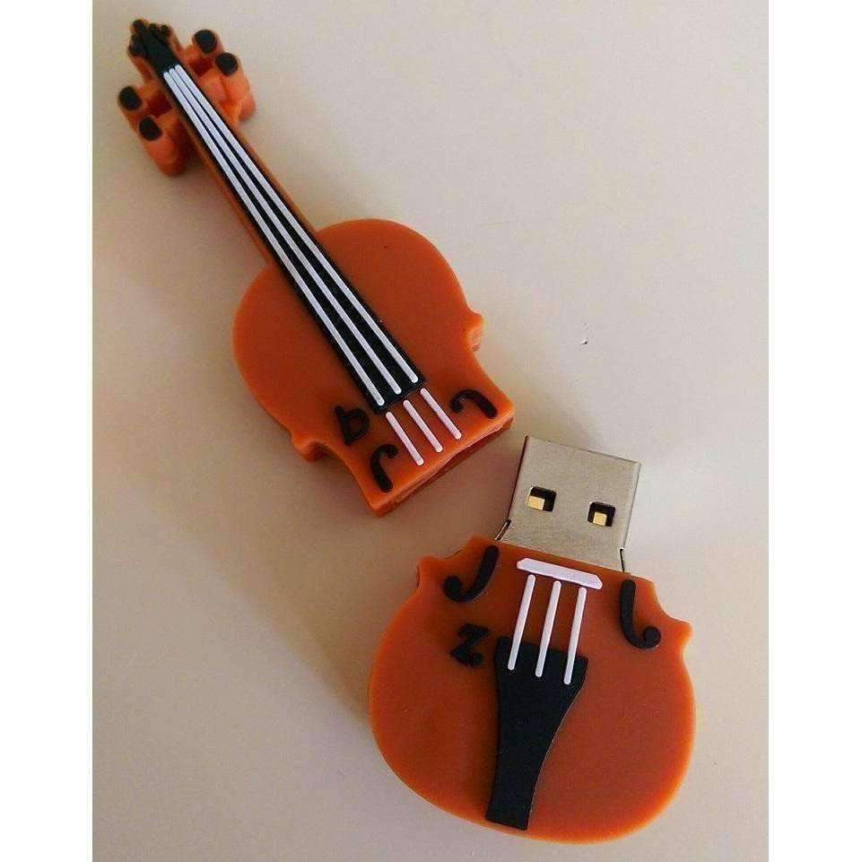 Music Themed USB Memory Stick 32Gb - Violin Music USB - Music Bumblebees