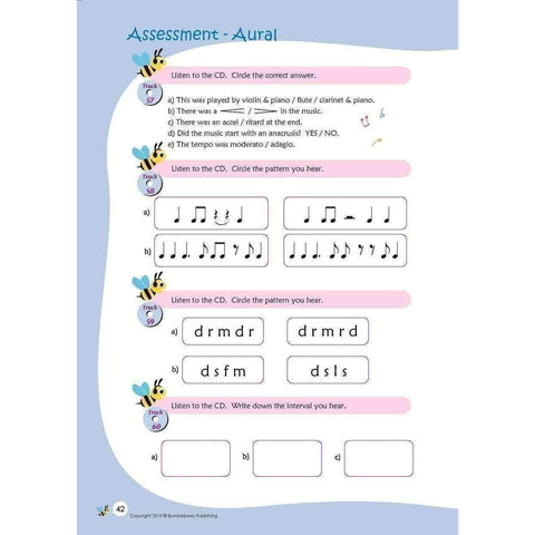 Image of Music Bumblebees Music Workbooks Music Bumblebees Aural & Theory Workbook C Studio Licence (Digital Download)