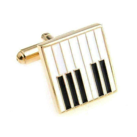 Image of Music Bumblebees Piano Music Design Cuff Links Various - Musical Note, Guitar, Drum, Saxophone, Trumpet and Piano