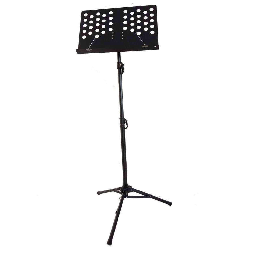 Music Bumblebees Products Heavy Duty Music Stand with Perforated Desk - Professional / Orchestral - New Improved Version