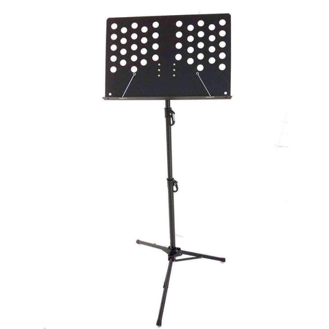 Image of Music Bumblebees Products Heavy Duty Music Stand with Perforated Desk - Professional / Orchestral - New Improved Version