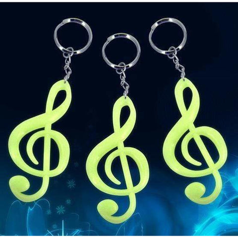 Image of Music Bumblebees Products,Music Gifts,For Students,Music Gifts for Kids G Clef / Treble Clef Keyring / Keychain - Luminous Grow in the Dark