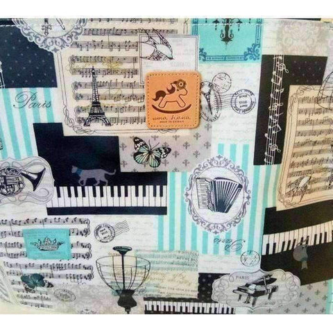 Music Bumblebees Products,Music Gifts,Mother's Day Special,For Performers Blue Key Uma Hana Versatile Music Themed Horizontal A4 Shoulder Bag