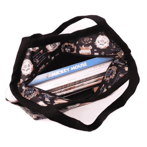 Image of Music Bumblebees Products,Music Gifts,Mother's Day Special,For Performers Copy of Large Classic Shoulder Bag (Water Resistant) (Blue Stripe on White Pattern) - Kittens & Keys Series