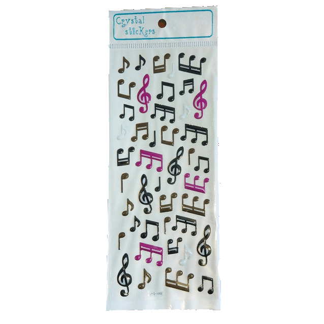Music Bumblebees Products,Music Gifts,Mother's Day Special,For Performers Music Notes Stickers Sheet - White